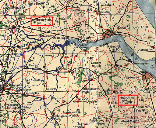 Map of  Breighton and Binbrook