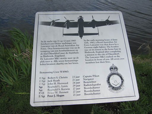 The plaque near the crashsite
